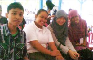Right2left: Pipin, Febby, Ade, Dayat.