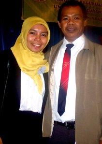 Bersama Bapak La Ode Supardi, M.Pd. Trima kasih, Pak. :')