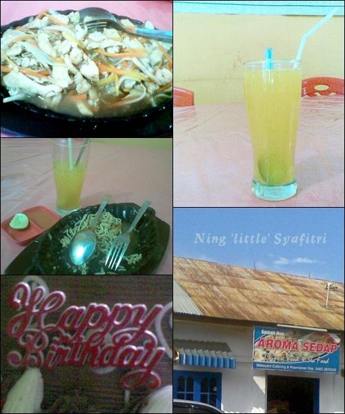 celebrating my day by my self :D