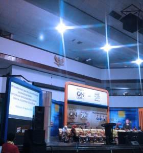 Welcoming New Postgraduate Students in Baruga A.P. Pettarani, Hasanuddin University, Makassar, on August 28, 2014