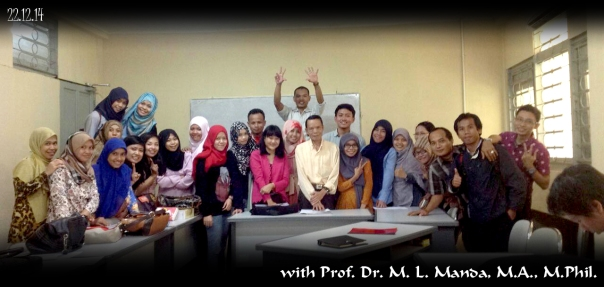 With Prof. Manda after the final test